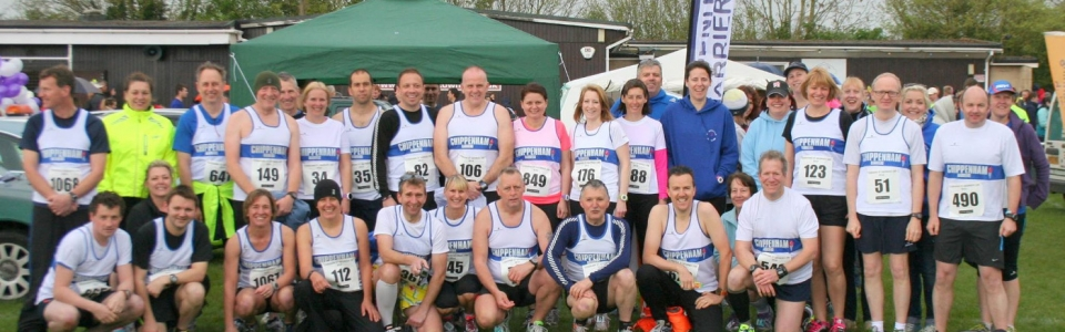 Group photo of the Harriers at Corsham 10K 2014